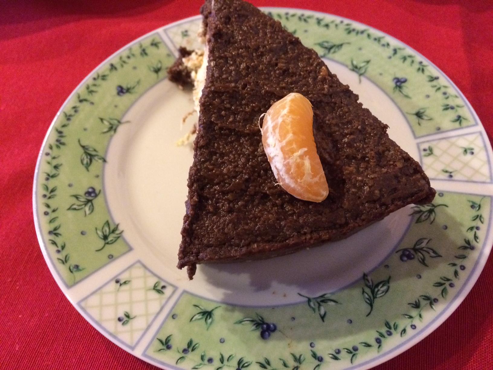 Egészséges desszert újévre: a mindenmentes kakaós-narancsos nyerstorta
