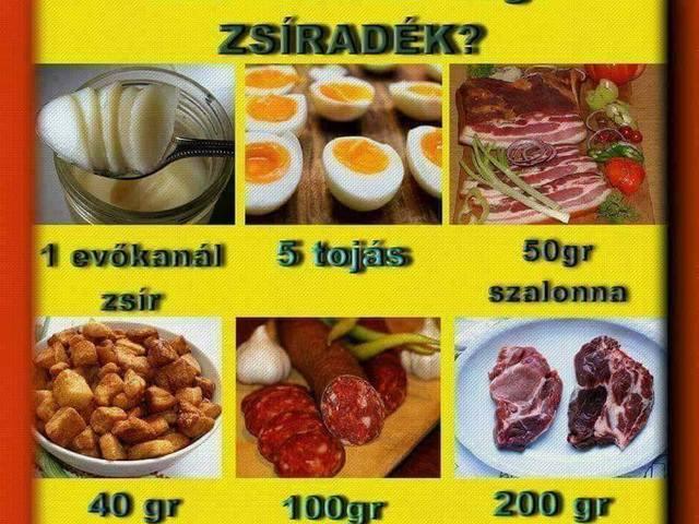 zsírbevitel diéta alatt)