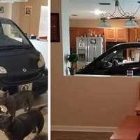 Beparkolt a konyhába, hogy ne vigye el a hurrikán az autót