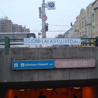 Gerilla reklám Újpest-Központban