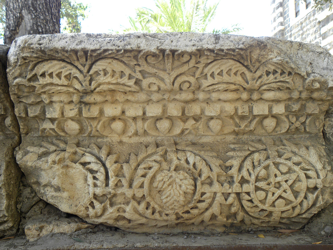 pentagram_and_grape_clusters_from_capernaum_synagogue_5830373959.jpg