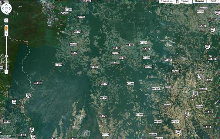 Brazília, kiválasztott terület