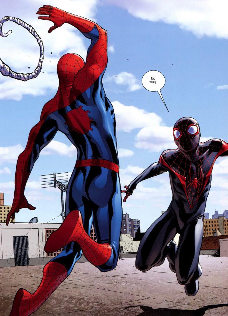 Peter és Miles első találkozása