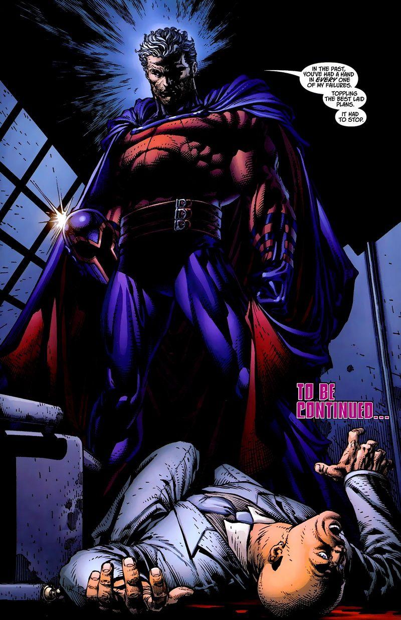 Magneto kitekerte X Professzor nyakát