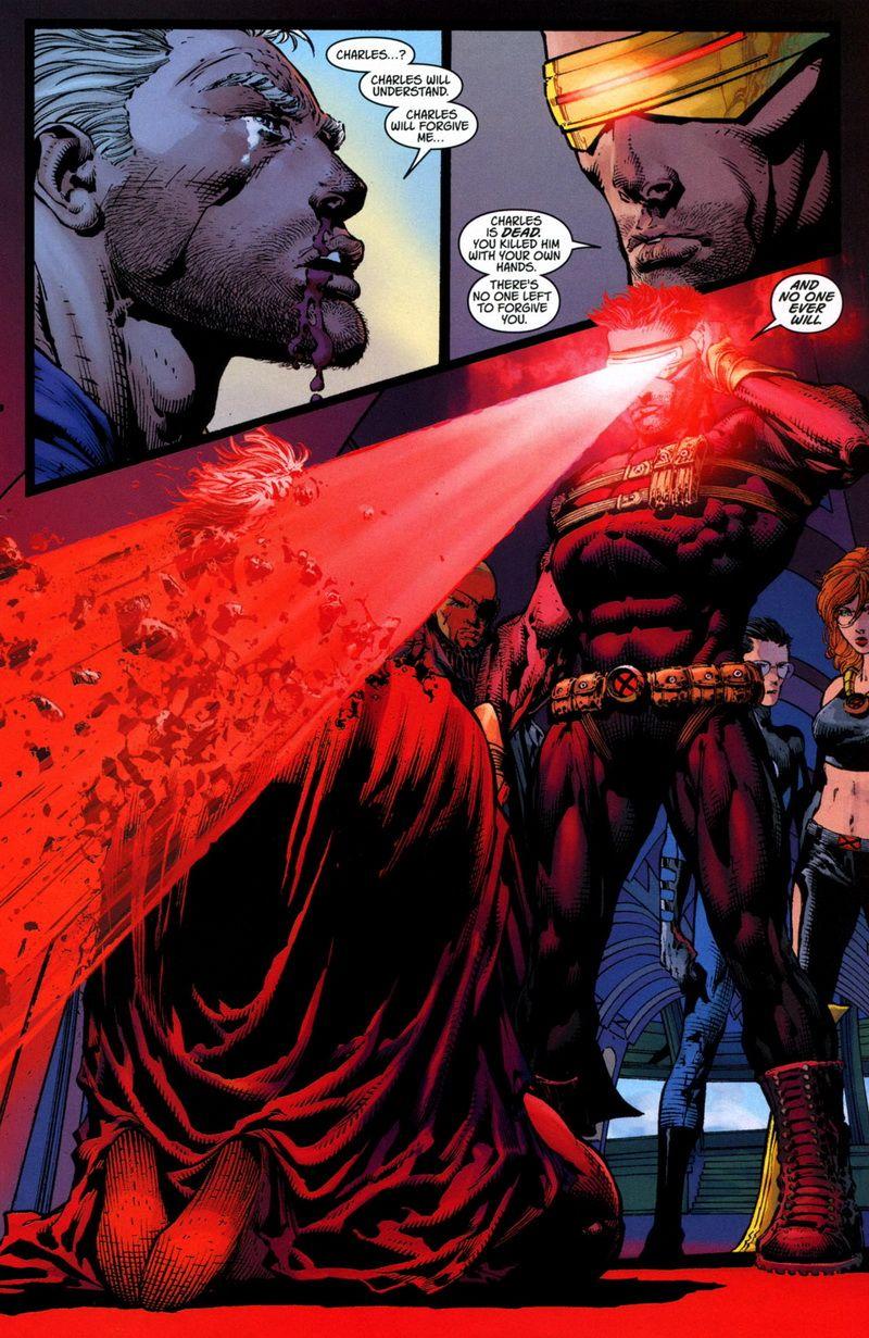 Küklopsz szétrobbantja Magneto fejét