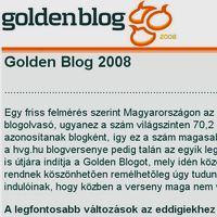 GoldenBlog 2008 - rövidesen indul!