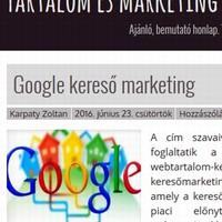Tartalom és marketing: új blog