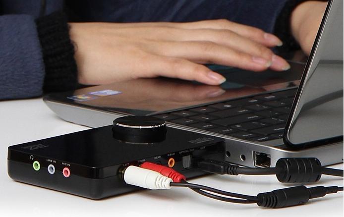 többcsatornás hangkártya laptophoz