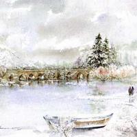 Üde tavaszi képek vízfestékkel