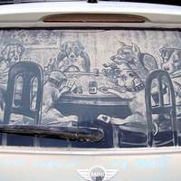 Ha koszos a kocsid ablaka... :)