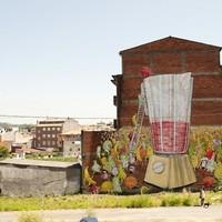 Vegetáriánus utcai művészet