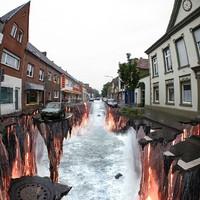 3D hatású utcai rajzok