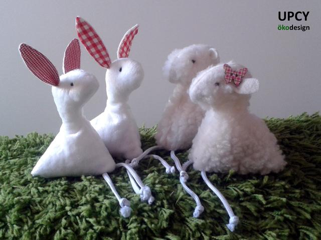 Öko húsvéti nyuszi és bárány dekoráció