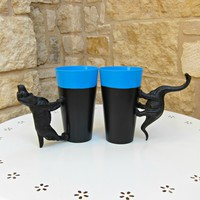 Ferenc névnapra - állatfüles poharak