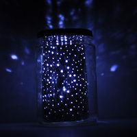 Klára névnapra - csillagos égbolt alumínium tálcából és befőttesüvegből