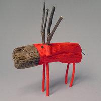 Hunor névnapra - uszadékfa festett szarvas