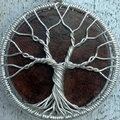 Szilvia névnapra - életfa drótból, ostábla koronggal