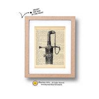 Gedeon névnapra - print antik könyvlapra