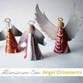 Angéla névnapra - angyal (szárny) alumínium dobozból