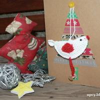 Karácsonyi üdvözlőkártya illatos madárral