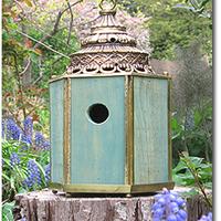 Erzsébet névnapra - madáretető templom lámpatestből