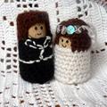 Jente és Gutt - menyasszony és vőlegény figura a Meskán