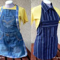Két kötény: ingből és farmerből