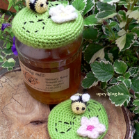 Horgolt méz kupak