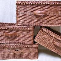 Teréz névnapra - újságpapírból fonott kosár
