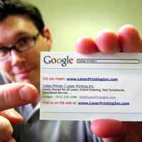 Google névjegykártya