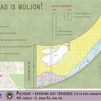 Gyerekek tervezték a II. János Pál pápa tér virágágyását