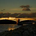 A nap képe: aranyvillamos a Margit hídon