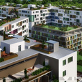 Milyen lakótelep épül a Millenniumi-negyed mellett?