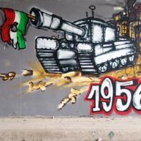 A MOM Parkban van a tegnapelőtti 56-os graffiti. Hol van ez a másik?