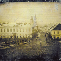 A legrégebbi fotó Budapestről. A XIX. század közepén készült és a mai Kálvin teret ábrázolja - a nap archív képe