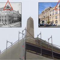 A nap képe: obeliszket építettek a Zeneakadémia tetejére