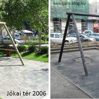 A nap képpárja: a Jókai tér 2006-ban és 2012-ben
