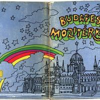 Budapest 1979-es mozitérképe: 86 mozi, 64 oldalon, kerületenkénti bontásban, csodálatos pszichedelikus rajzokkal