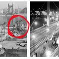 Egy fa százéves története: a díszlet fotóról fotóra változik, csak a platán marad az Erzsébet híd lábánál