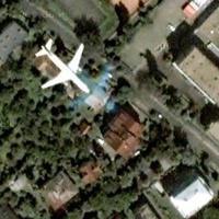 Repülőgép Zugló felett a Google Mapson