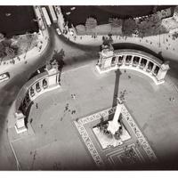 Archív légi fotók Budapestről. Ilyen volt 50-60 éve repülőgépről a Hősök tere, a Kossuth híd és a Népstadion