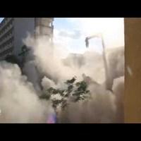 Így omlott ma le a volt Ipari Minisztérium  épülete a Margit körúton