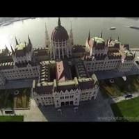 Gyönyörű drónos felvételek a megújult Kossuth térről