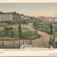 Ilyen volt a Margit híd budai hídfője egy évszázada - a nap archív képe
