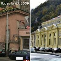 A nap képpárja: a Rudas Fürdő 2009-ben és 2012-ben