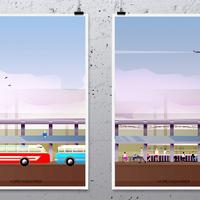 Elképesztően jó minihonlap az Erzsébet téri buszpályaudvarról bűbájos grafikával