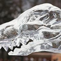 Kihalt állatok jégszobrai Budapest közterein