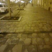 Pestet mintázó kövekkel rakták ki Kecskemét főutcáját