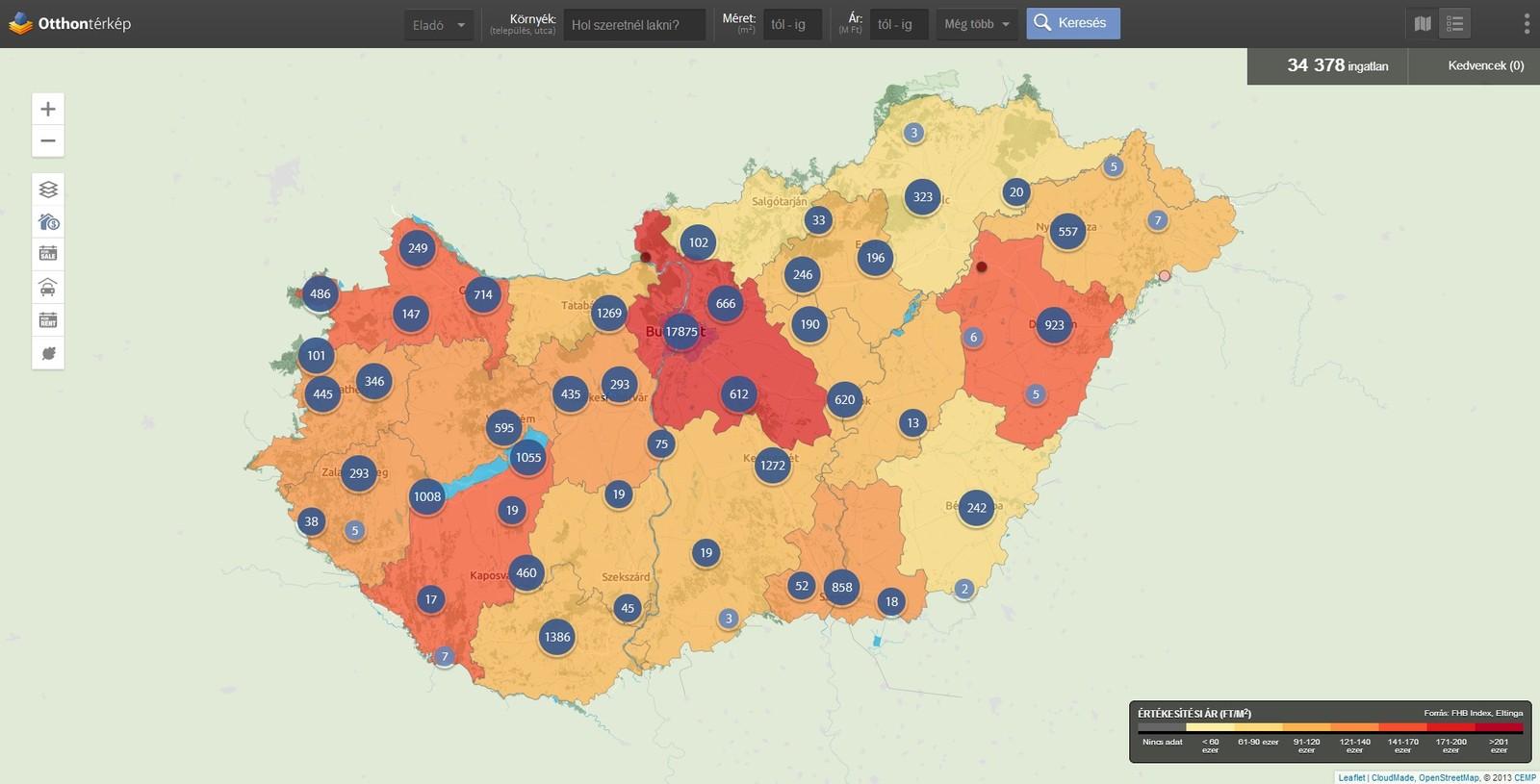 ingatlan com térkép Most már az egész országban megnézhetitek, milyenek az  ingatlan com térkép