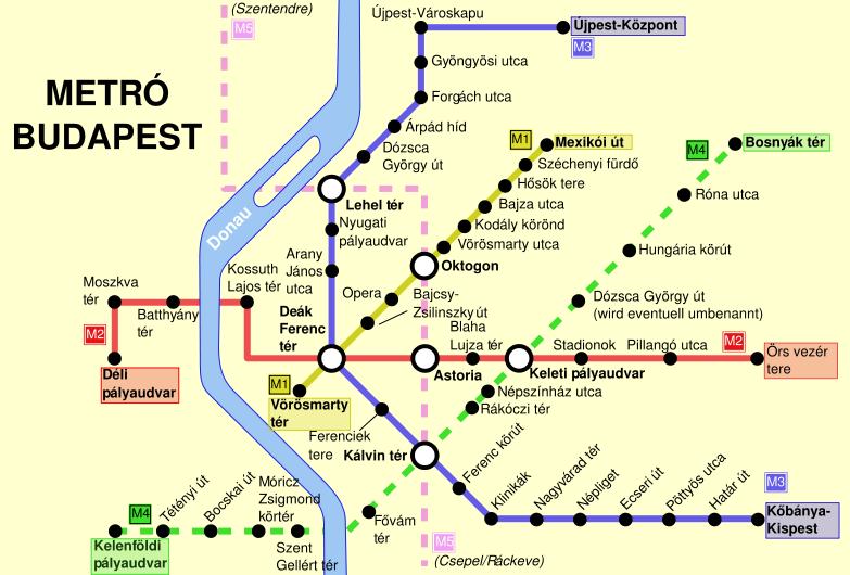 metrómegállók budapest térkép Merre megy az ötös metró? És a hatos? Ja és a hármas  metrómegállók budapest térkép